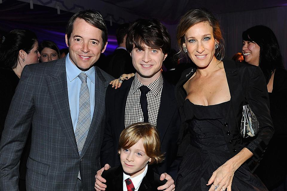 Harry Potter and the Deathly Hallows Pt 1 NYC premiere 2010 Matthew Broderick Daniel Radcliffe Sarah Jessica Parker