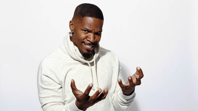 "Actor Jamie Foxx poses for a portrait at the Crosby Street Hotel, in promotion of his upcoming role in ""The Amazing Spider-Man 2,"" on Sunday, April 27, 2014 in New York. (Photo by Dan Hallman/Invision/AP)"