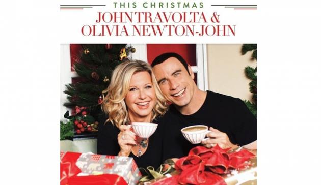 John Travolta and Olivia Newton-John's 'This Christmas' album cover -- Universal