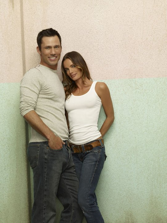 "Jeffrey Donovan as Michael Weston and Gabrielle Anwar as Fionna Glenanne in ""Burn Notice."""