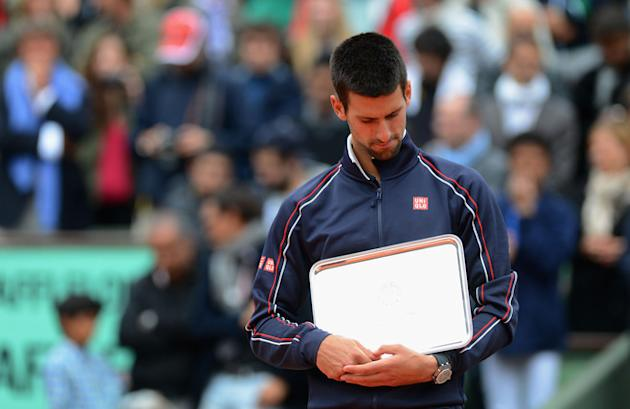 Novak Djokovic Of Serbia Looks Getty Images