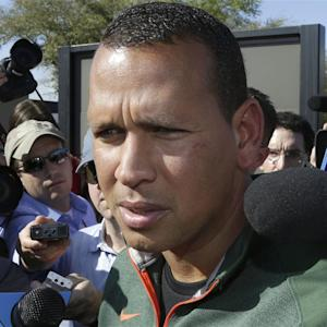 Alex Rodriguez Arrives at Yankees' Training Camp