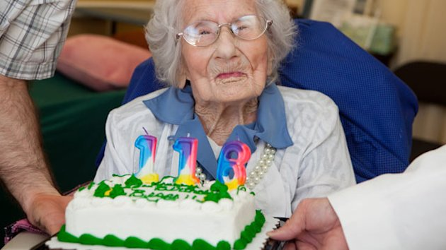 world records chose numbers actual candles celebrated 116th birthday sunday