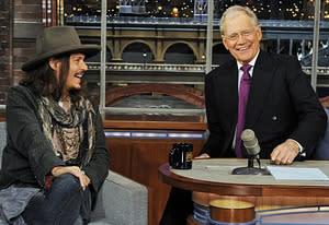Johnny Depp, David Letterman | Photo Credits: Jeffrey R. Staab/CBS