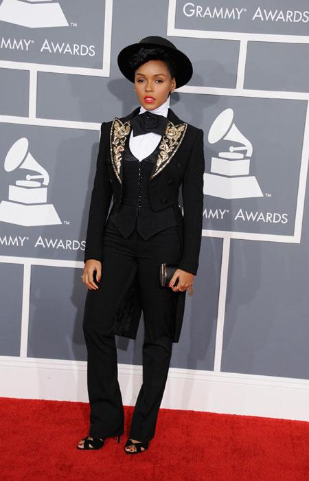 Singer Janelle Monae attends the 55th Annual GRAMMY Awards at STAPLES Center on February 10, 2013 in Los Angeles, California. (Photo by Steve Granitz/WireImage)
