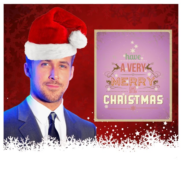 Ryan Gosling w&#xfc;nscht Euch allen ein sch&#xf6;nes Weihnachtsfest. (Bilder: Getty Images / Fotolia)