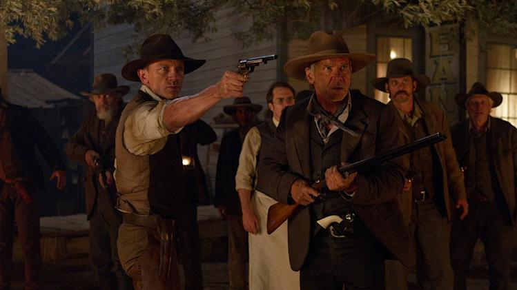 Cowboys and Aliens 2011 Universal Pictures Clancy Brown Daniel Craig Sam Rockwell Harrison Ford
