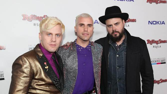 IMAGE DISTRIBUTED FOR NOKIA - Neon Trees arrive at the Rolling Stone American Music Awards After Party, on Sunday, Nov. 18, 2012 in Los Angeles. (Photo by Casey Rodgers/Invision for Nokia/AP Images)