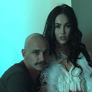 Bald James Franco Poses with a Bloody Megan Fox