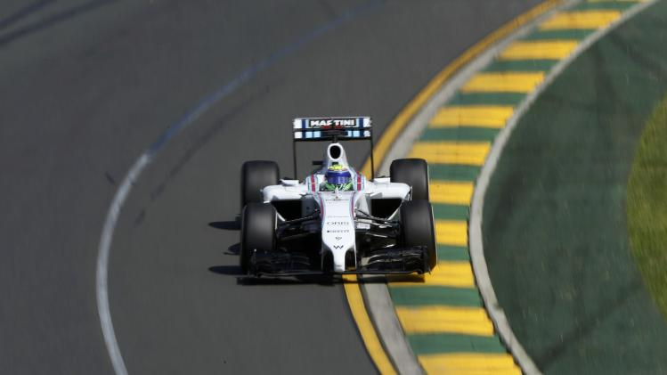 Williams Formula One driver Massa of Brazil drives during the third practice session of the Australian F1 Grand Prix in Melbourne