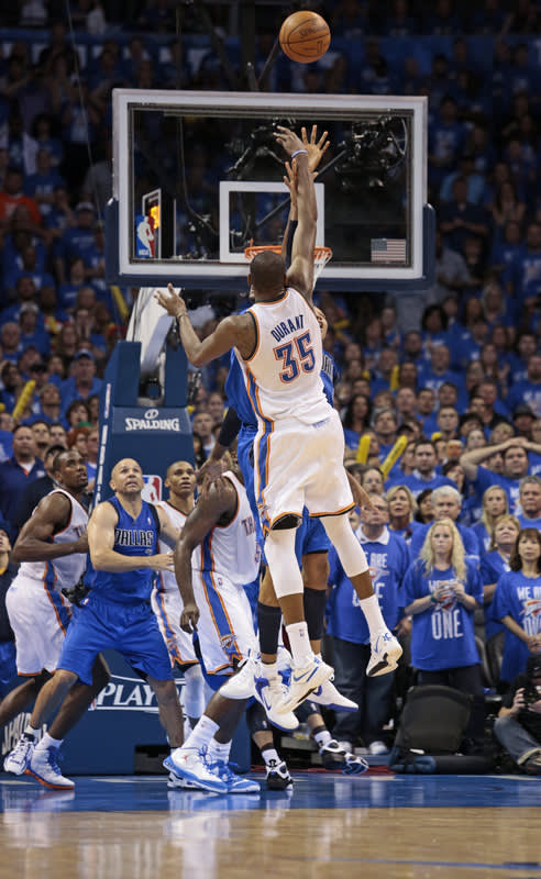 Kevin Durant #35 Of The Oklahoma City Thunder Shoots Getty Images
