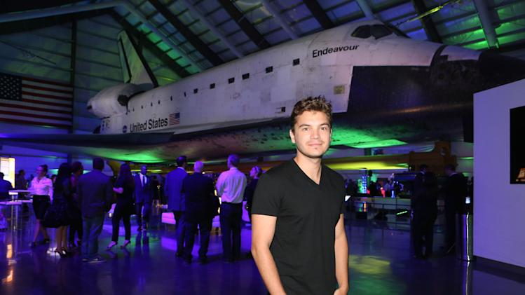 """Emile Hirsch celebrates the worldwide blockbuster """"Star Trek Into Darkness"""" home entertainment debut at an exclusive launch party beneath the wings of the historic Space Shuttle """"Endeavour"""" on Tuesday, Sept, 10, 2013 at the California Science Center in Los Angeles. Photo by Casey Rodgers/Invision for Paramount Pictures/AP Images)"""