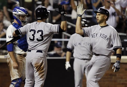 Ibanez, Chavez rally Yankees past Mets 4-3