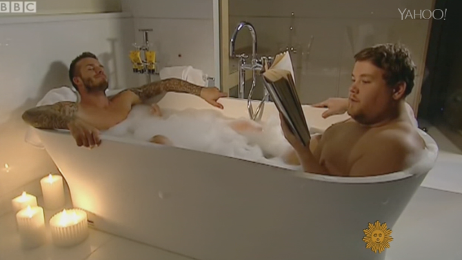David Beckham is Bath Buddies With New Late Night Host