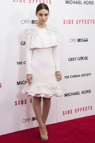 Rooney Mara attends the premiere of &quot;Side Effects&quot; hosted by the Cinema Society and Open Road Films on Thursday, Jan. 31, 2013 in New York. (Photo by Charles Sykes/Invision/AP)