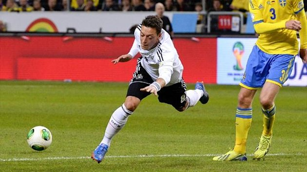 Germany's Mesut Ozil against Sweden (AFP)