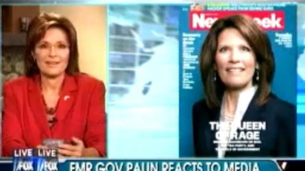 Palin Doesn't Think Bachmann Newsweek Cover Is Sexist
