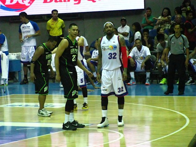 Japeth Aguilar guarded Renaldo Balkman for most of the game. (Photo by