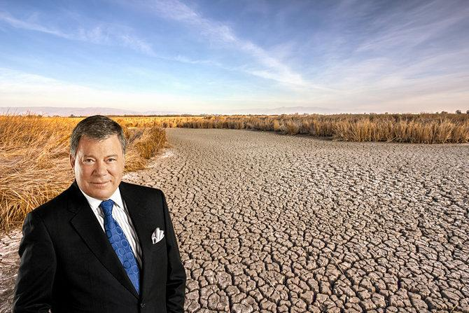 William Shatner Says He's Raising $30 Billion on Kickstarter to Save California from Drought