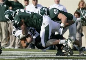 Northwestern holds on to edge Michigan St 23-20