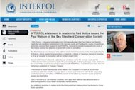 &lt;p&gt;The Interpol website shows a computer-generated image of fugitive eco-warrior Paul Watson, the founder of marine conservation group Sea Shepherd. Watson, who for years has harassed Japan&#39;s whale hunt, was arrested in Germany in May for extradition to Costa Rica over the shark finning incident in 2002. He says the charges are politically motivated, driven by Tokyo.&lt;/p&gt;