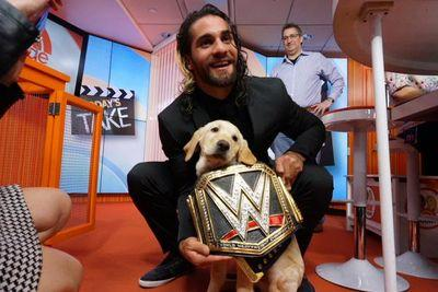 Seth Rollins put the WWE Championship belt on 'The Today Show' dog