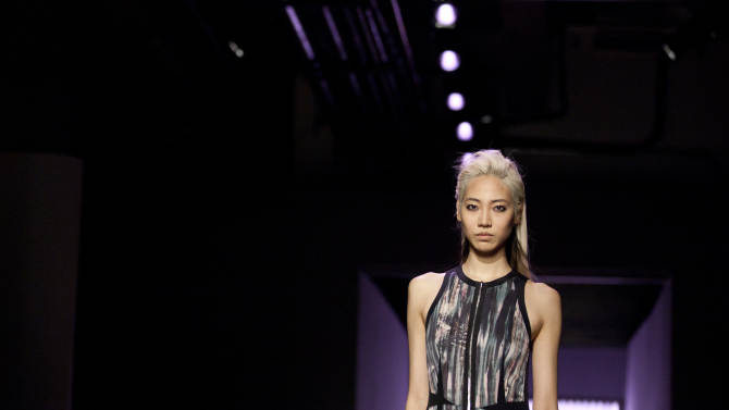 A model walks the runway during the Rebecca Taylor Fall 2013 fashion show during Fashion Week, Saturday, Feb. 9, 2013, in New York. (AP Photo/Karly Domb Sadof)