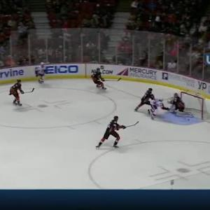 Mika Zibanejad Goal on John Gibson (03:23/2nd)