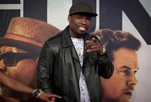 """Rapper Curtis """"50 Cent"""" Jackson arrives for the premiere of the movie '2 Guns' in New York"""