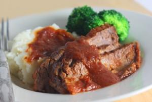 Root Beer Braised Brisket in the Slow Cooker