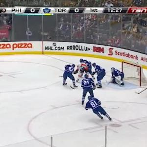 Jonathan Bernier Save on Sean Couturier (07:34/1st)