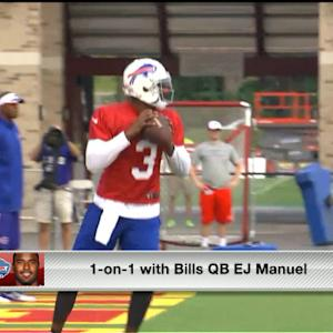 Buffalo Bills quarterback EJ Manuel on wide receiver Sammy Watkins' skill: 'He made me a believer in 2010'