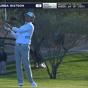 Bubba Watson's fantastic approach leads to birdie at Waste Management