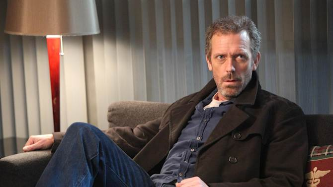 "In this publicity photo released by FOX, Hugh Laurie as House is shown in an episode of ""House.""  The medical series which concluded an eight-year run failed to land an Emmy nomination on Thursday, July 19, 2012. The 64th annual Primetime Emmy Awards will be presented Sept. 23 at the Nokia Theatre in Los Angeles, hosted by Jimmy Kimmel and airing live on ABC. (AP Photo/FOX, Adam Taylor)"