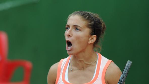Italy's Sara Errani Celebrates AFP/Getty Images