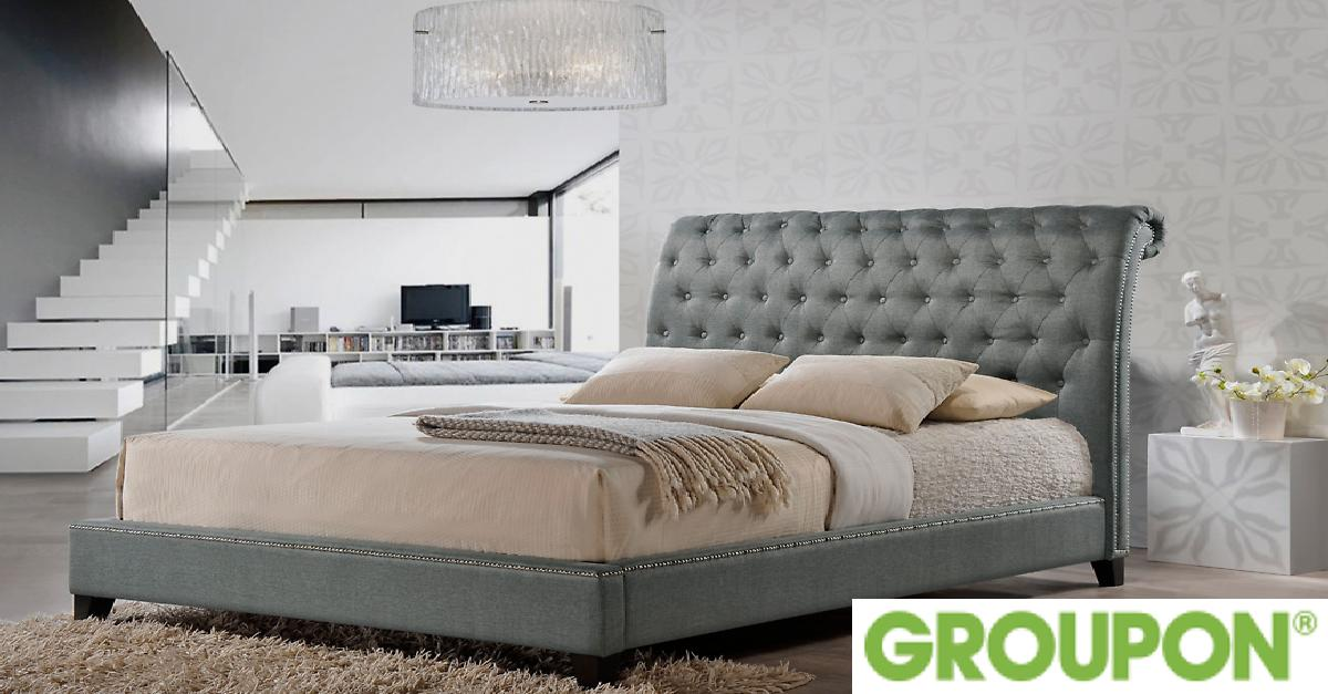 56% Off on Jazmin Modern Bed with Headboard