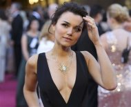 Actress Samantha Barks in the film &quot;Les Miserables&quot; arrives at the 85th Academy Awards in Hollywood, California February 24, 2013 REUTERS/Adrees Latif