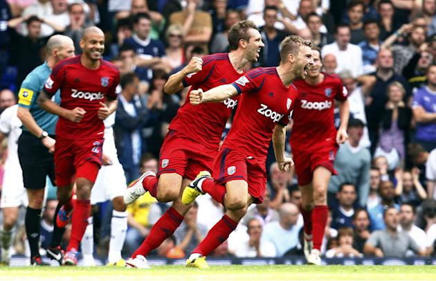 James Morrison scored a late equaliser as West Brom took a point home from Tottenham