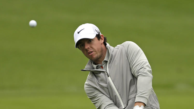 Rory McIlroy, of Northern Ireland, chips to the sixth hole during the pro-am of the Wells Fargo Championship golf tournament at Quail Hollow Club in Charlotte, N.C., Wednesday, May 1, 2013. (AP Photo/Chuck Burton)