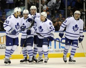 Phaneuf, Kadri lift Leafs past Isles, 5-4 in OT