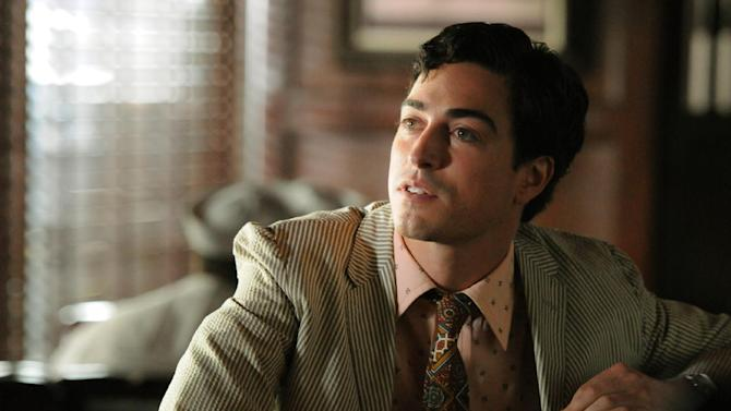 "This image released by AMC shows series newcomer Ben Feldman as Michael Ginsberg in a scene from ""Mad Men."" On Thursday, July 19, 2012, the program received a total of 17 Emmy nominations including best actress in a drama series for Elisabeth Moss and best actor for Jon Hamm. The 64th annual Primetime Emmy Awards will be presented Sept. 23 at the Nokia Theatre in Los Angeles, hosted by Jimmy Kimmel and airing live on ABC. (AP Photo/AMC, Michael Yarish)"