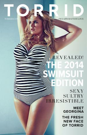 Sexy. Sultry. Irresistible. Torrid Introduces Georgina – Its 2014 Swimsuit Collection Cover Girl and the New Face of Torrid