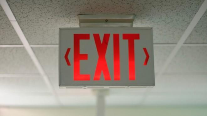 """Exit: In Latin, it means """"it goes out."""""""