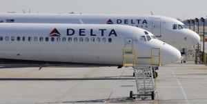 File photo of Delta Airlines planes at Hartsfield-Jackson …