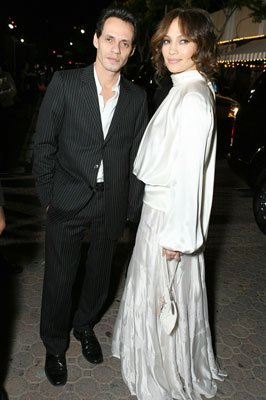 Marc Anthony and Jennifer Lopez at the Los Angeles premiere of Columbia Pictures' The Pursuit of Happyness
