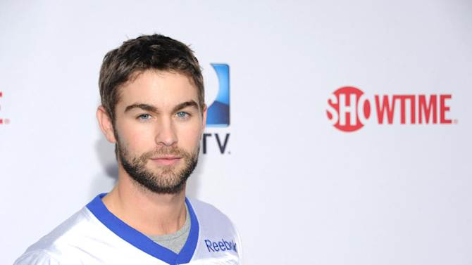 Chase Crawford arrives at DIRECTV's Seventh Annual Celebrity Beach Bowl, on Saturday, Feb. 2, 2013 in New Orleans. (Photo by Evan Agostini/Invision/AP)