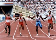 Canadia's Ben Johnson (left) signals victory in the men's 100 metres final in the 1988 Seoul Olympics. Johnson has revealed simmering anger over the drugs scandal that stripped him of the medal, handing it to Carl Lewis