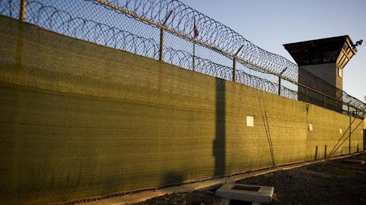 "The guard tower of ""Camp Six"" detention facility of the Joint Detention Group at the US Naval Station in Guantanamo Bay, Cuba on January 19, 2012"