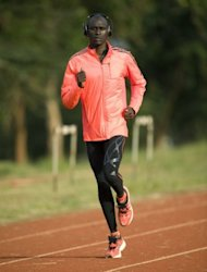 Kenya's David Rudisha, world 800m champion, pictured during a training session in Nairobi, on July 24. Kenya will be bidding to once again better east African rivals Ethiopia with another dominant display on the track at the London Olympics