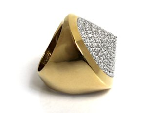 Noir Jewelry Pavé Cone Pyramid Ring